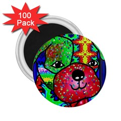 Pug 2 25  Button Magnet (100 Pack)