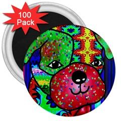 Pug 3  Button Magnet (100 pack)