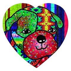 Pug Jigsaw Puzzle (heart)