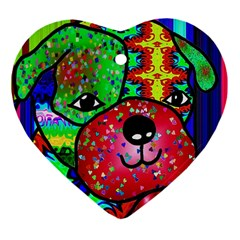 Pug Heart Ornament (Two Sides)