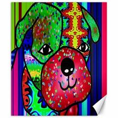 Pug Canvas 8  x 10  (Unframed)