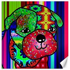 Pug Canvas 20  x 20  (Unframed)