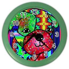 Pug Wall Clock (Color)