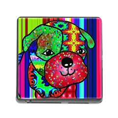 Pug Memory Card Reader With Storage (square)