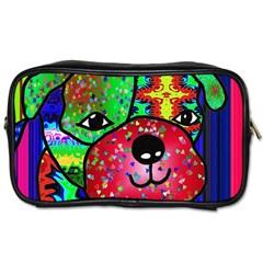Pug Travel Toiletry Bag (one Side)