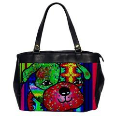 Pug Oversize Office Handbag (One Side)
