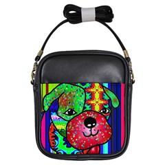 Pug Girl s Sling Bag