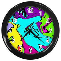 Abstract Wall Clock (Black)