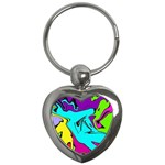 Abstract Key Chain (Heart) Front