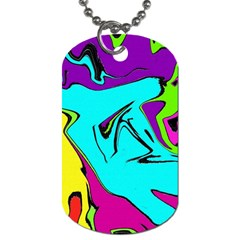 Abstract Dog Tag (One Sided)