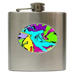 Abstract Hip Flask