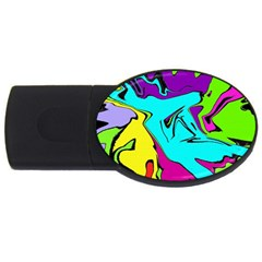 Abstract 1GB USB Flash Drive (Oval)