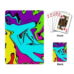 Abstract Playing Cards Single Design