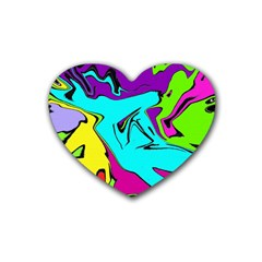 Abstract Drink Coasters (Heart)