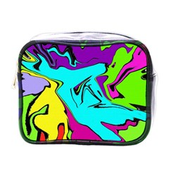 Abstract Mini Travel Toiletry Bag (One Side)