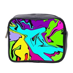 Abstract Mini Travel Toiletry Bag (Two Sides)