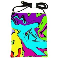 Abstract Shoulder Sling Bag