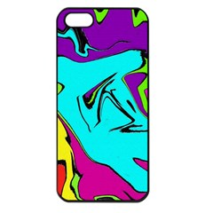 Abstract Apple iPhone 5 Seamless Case (Black)