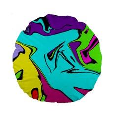 Abstract 15  Premium Round Cushion