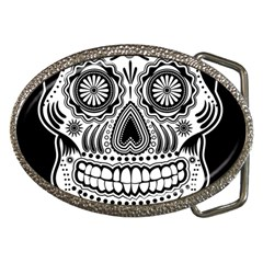 Skull Belt Buckle (Oval)