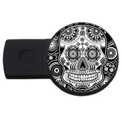 Sugar Skull 1GB USB Flash Drive (Round)