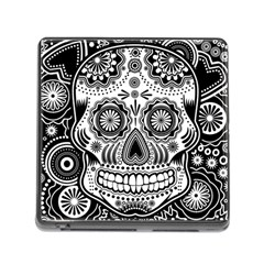 Sugar Skull Memory Card Reader with Storage (Square)
