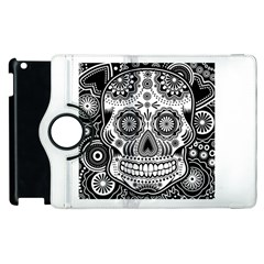 Sugar Skull Apple Ipad 2 Flip 360 Case
