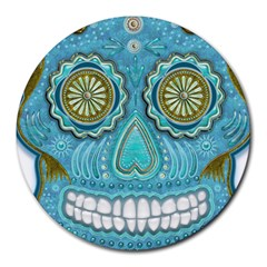 Skull 8  Mouse Pad (Round)