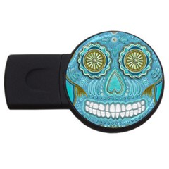 Skull 4GB USB Flash Drive (Round)