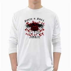 Rocknrolljunkie Mens' Long Sleeve T-shirt (White)
