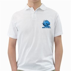 Hellishrock N Rollblue Mens  Polo Shirt (White)
