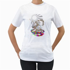 Seppucorn Womens  T-shirt (White)