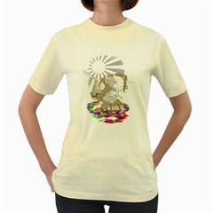 Seppucorn  Womens  T-shirt (Yellow)