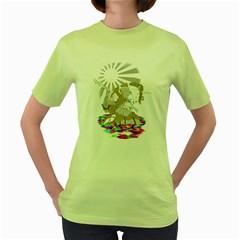 Seppucorn Womens  T-shirt (Green)