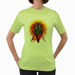 Blood Samurai Womens  T-shirt (Green)