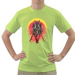 Blood Samurai Mens  T-shirt (Green)