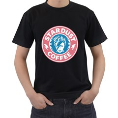 Stardust Coffee Mens' Two Sided T-shirt (Black)