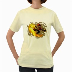 Mario  Womens  T Shirt (yellow)