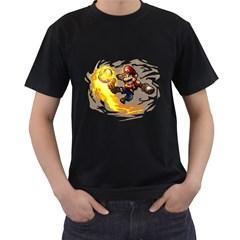 Mario Mens' Two Sided T-shirt (Black)