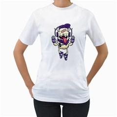 Stylish Monster  Womens  T-shirt (White)