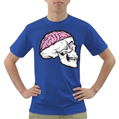 Skull & Brain Mens' T-shirt (Colored)