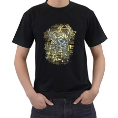 Pirate Skull Mens' Two Sided T Shirt (black)