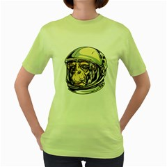 SpaceMonkey Womens  T-shirt (Green)