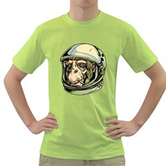 Spacemonkey Mens  T Shirt (green)