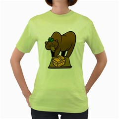 Yogi Grizzly Womens  T-shirt (Green)