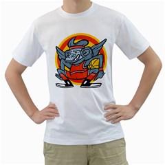 Flying Monkey Mens  T-shirt (White)