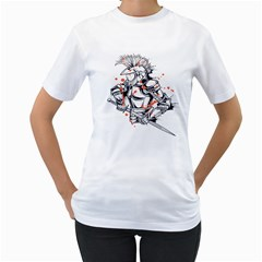 Captain ! Womens  T-shirt (White)