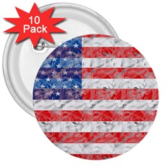 Flag 3  Button (10 Pack)