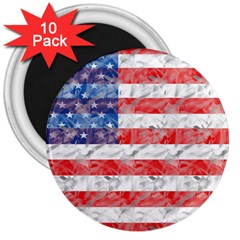 Flag 3  Button Magnet (10 pack)