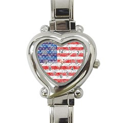 Flag Heart Italian Charm Watch